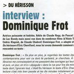 Dominique Frot - du hérisson - interview