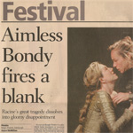 Phèdre - The Scotsman - Aimless Bondy fires a blank
